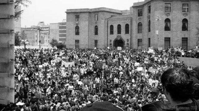 Marcha #YoSoy132 de 2012. Foto: Ahuizotl Gutierrez