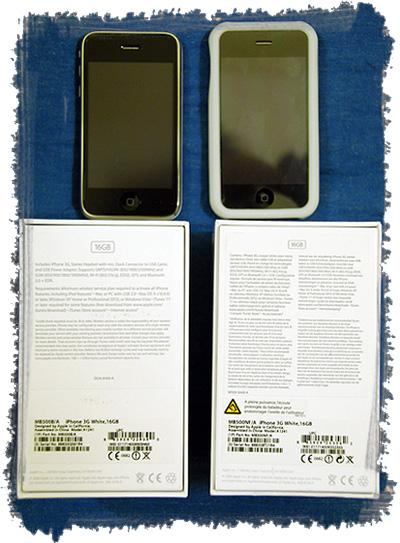 Left=London iPhone, Right=Paris iPhone