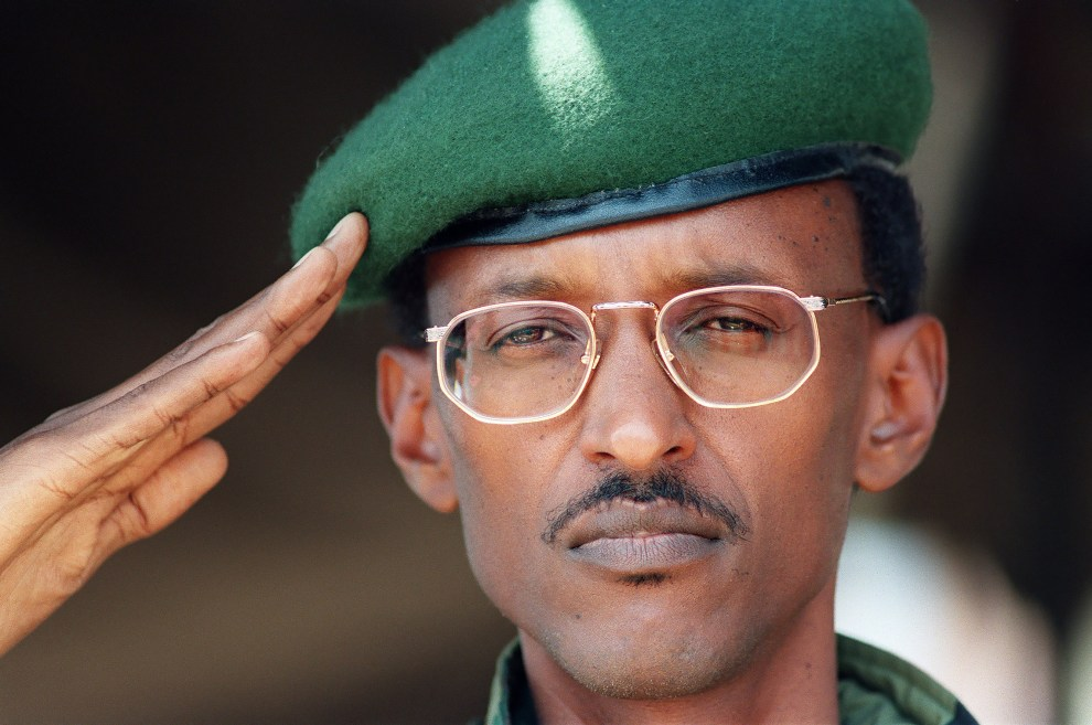 Rwandan-President-Paul-Kagame-in-194-while-he-was-vice-president-of-his-country.