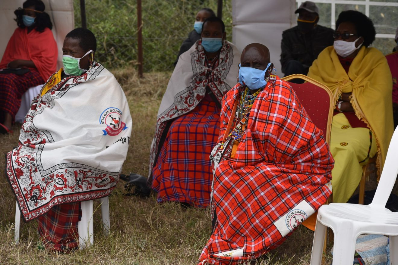 Former circumcisers attended the celebration in Inkinyi