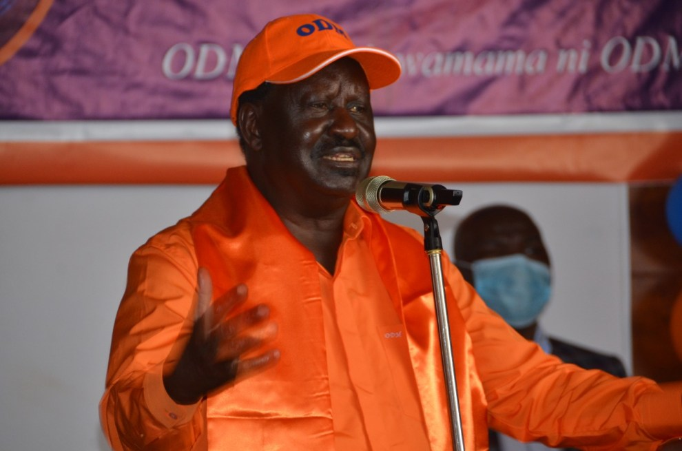 Raila Odinga in Kitengela October 8.