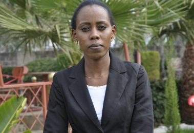 Maria Naisoi when she was interviewed by KNU in Isinya.