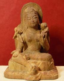 緑多羅菩薩坐像