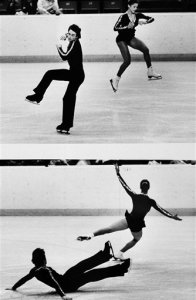 Babilonia & Gardner figure skaters fall