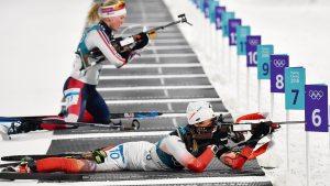 Women's biathlon prone shooting