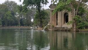 Lake near Villa Borghese.