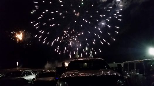 Parking lot fireworks