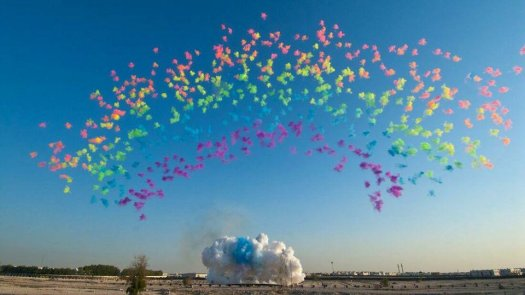 Cai Guo-Qiang, gunpowder rainbow