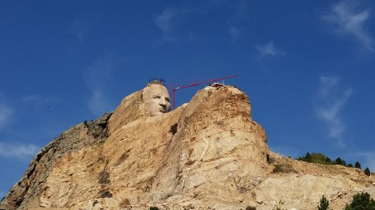 Crazy Horse carving, September 2018
