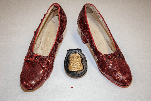 Recovered ruby slippers