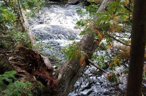 Lake Superior, waterfall.
