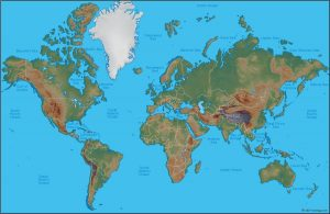 World Map, north at top