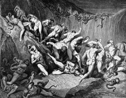 Thieves in Dante's Hell