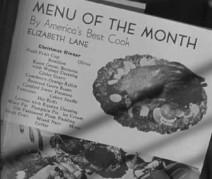 """turkey menu from the movie """"Christmas in Connecticut"""""""