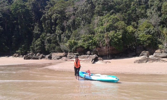 Kayaking is a relaxing way to explore Santubong.