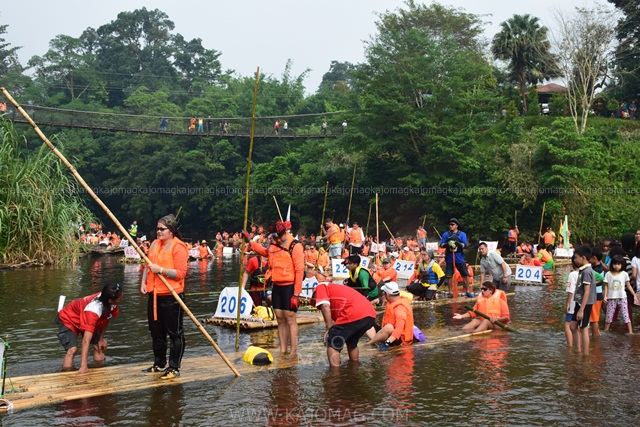 When participating in the Padawan Raftt Safari, participants are required to build their own bamboo raft