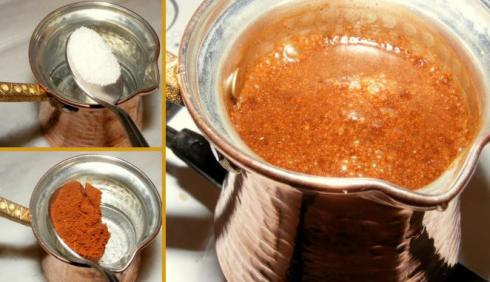 Правильно заварить кофе в турке
