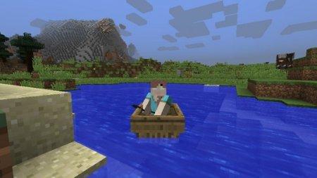 Paano pamahalaan ang isang bangka sa Minecraft.