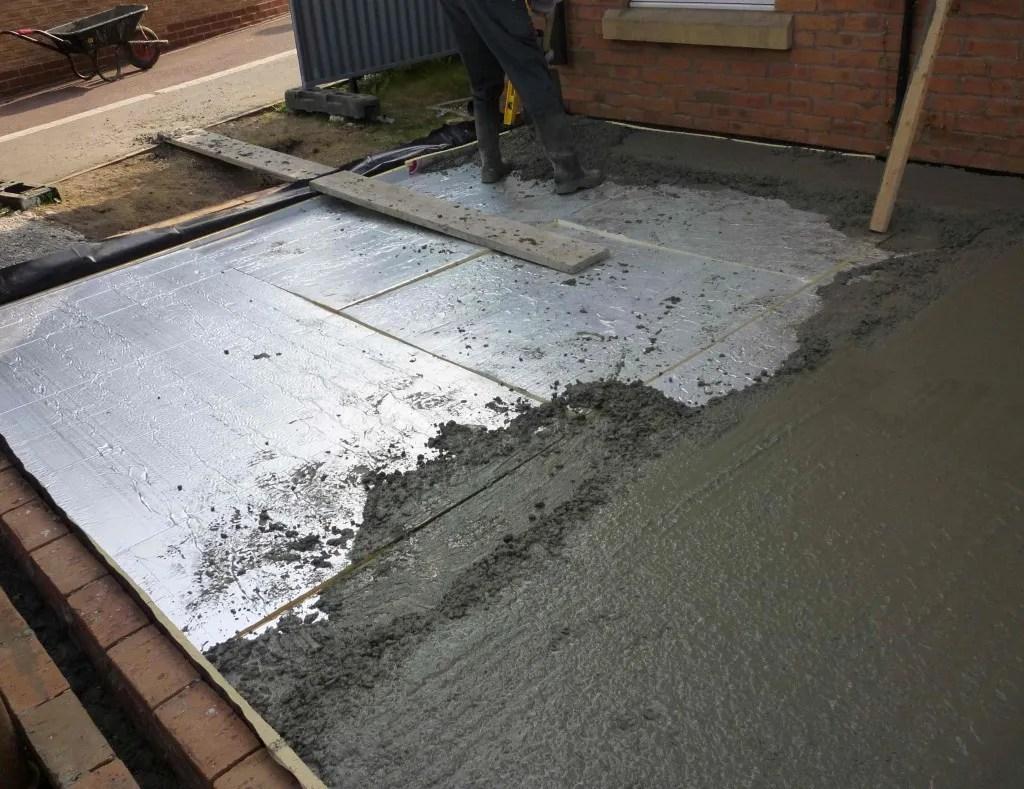 Утепление бетонного пола панелями пенопласта