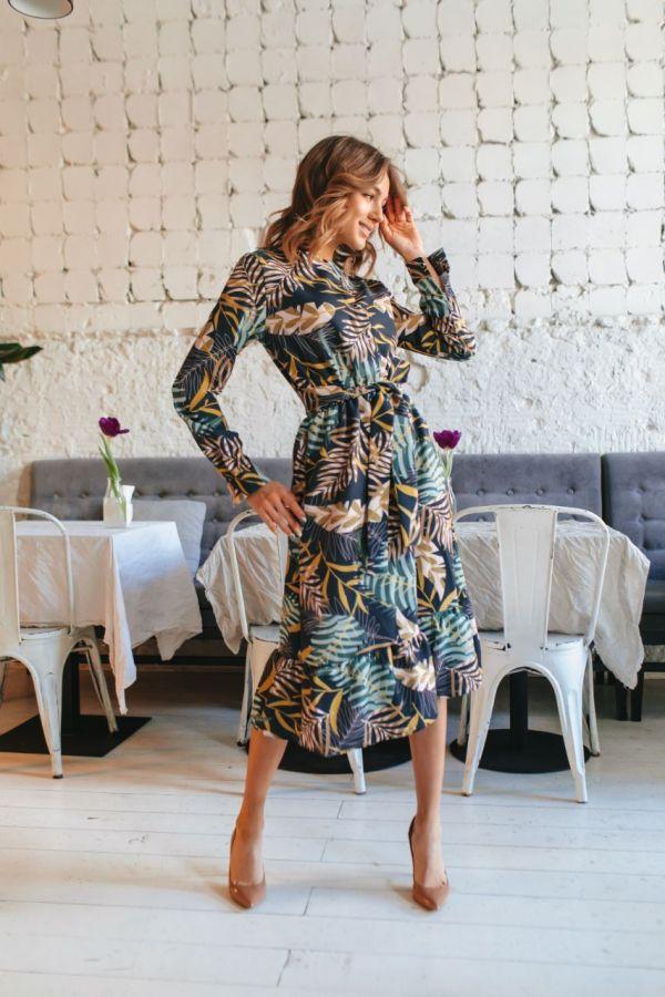 Платья с пальмовым принтом