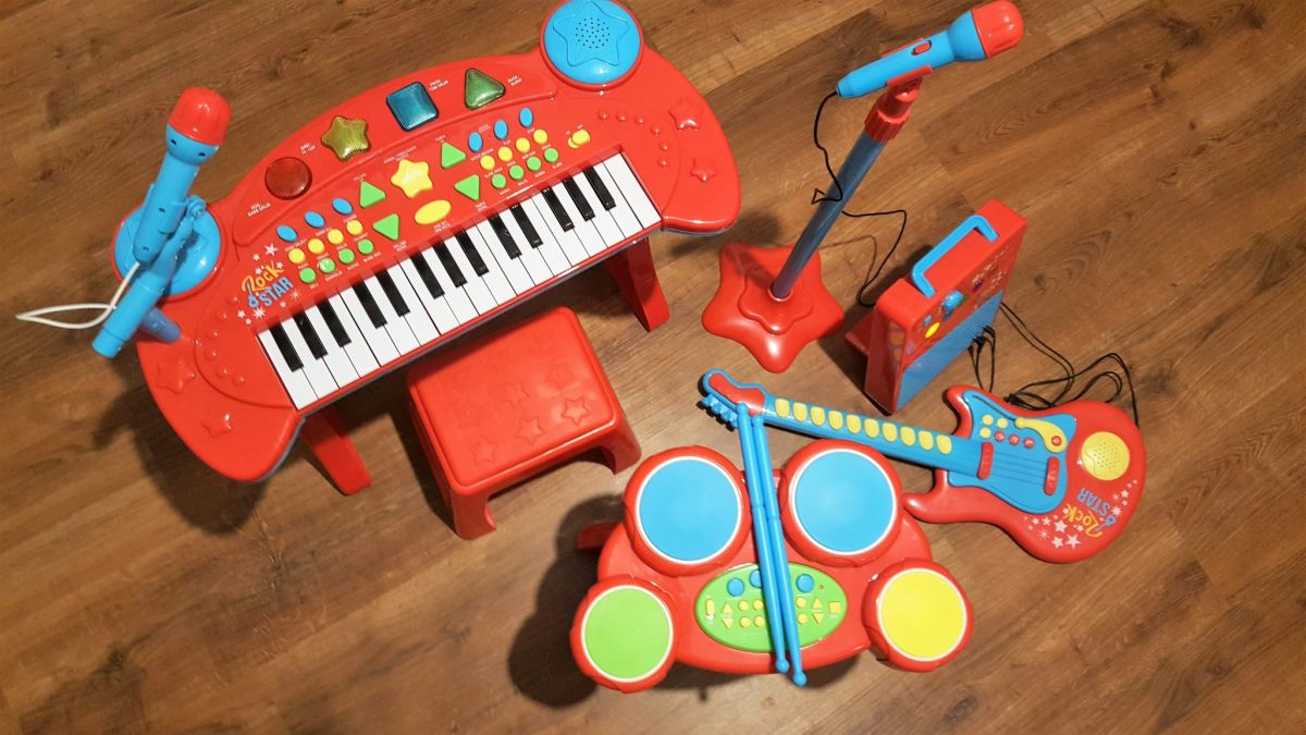 Tesco Carousel Gitara Keyboard Perkusja dla dzieci