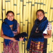 Indigo Footloom Scarves, Kakaw Designs