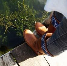 Hummingbird Boots in Indigo by Kakaw Designs
