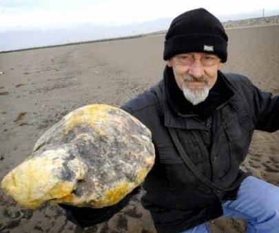 龍涎香(りゅうぜんこう)を浜辺で発見