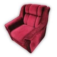 Red Velvet Single Sofa Chair
