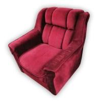 Red Velvet Single Sofa Chair   Kaki Lelong - Everything ...