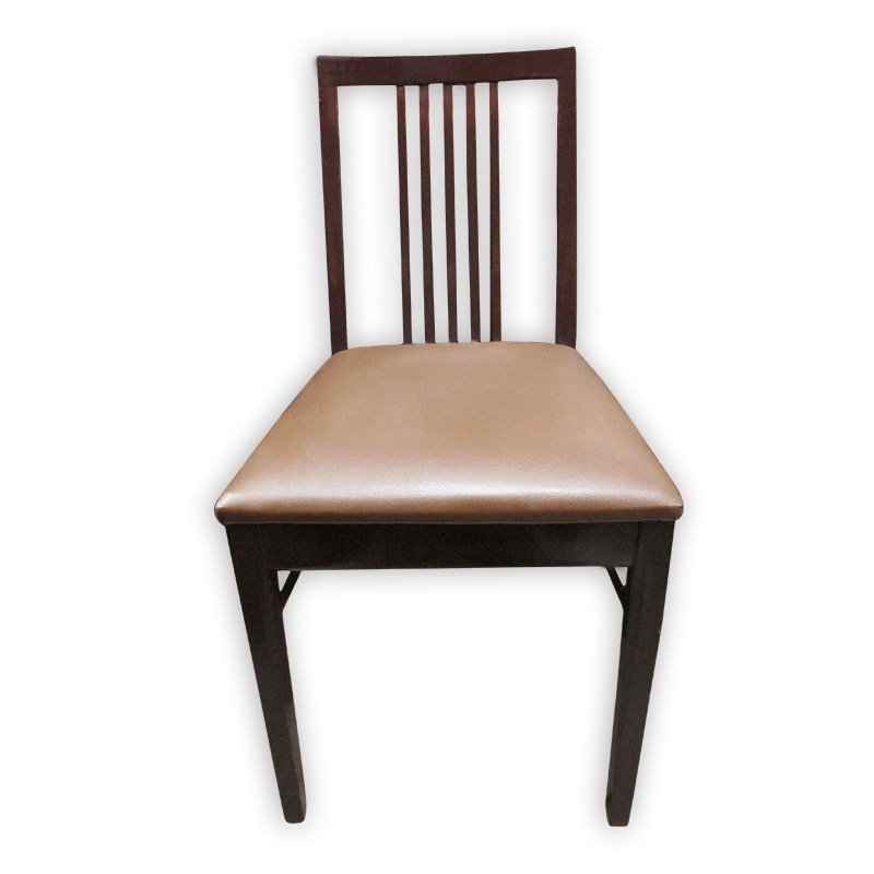 Cushioned Wooden Chair  Kaki Lelong  Everything Second Hand