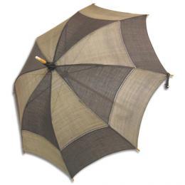 麻の日傘刈安市松