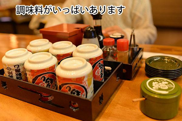 もりもり寿し 金沢駅前店 テーブル上セット