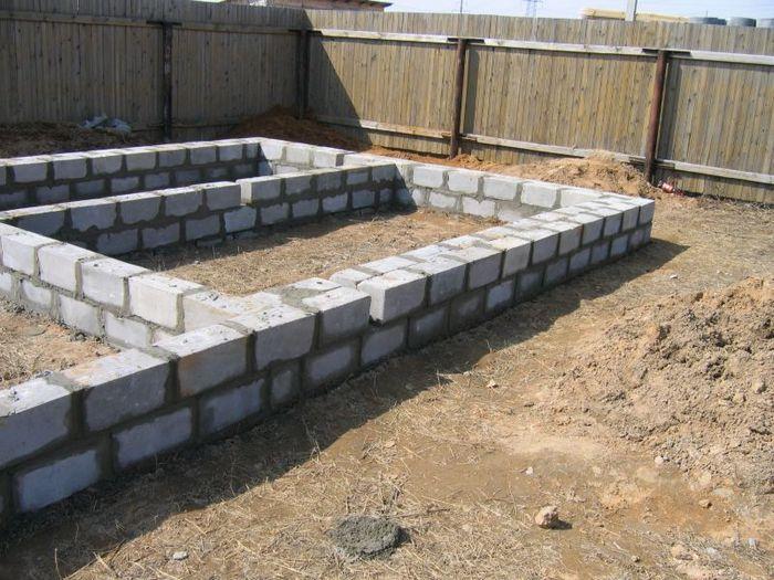 фундамент для бани из керамзитобетонных блоков