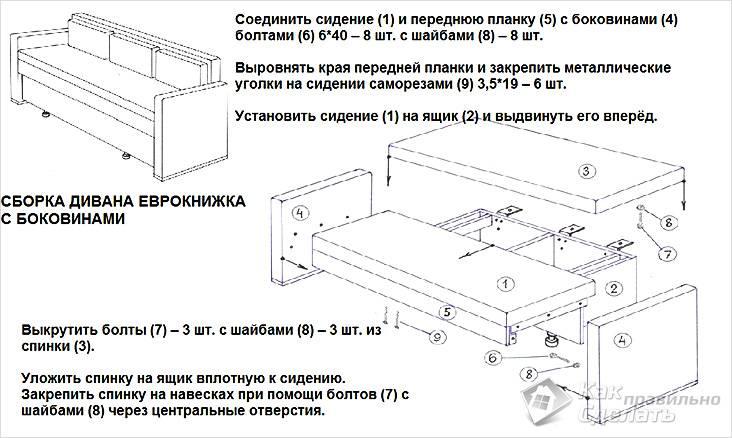 Building Sofa Eurobook.