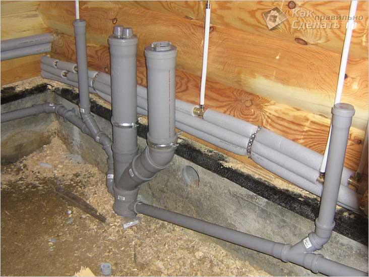 Монтаж канализации внутри здания