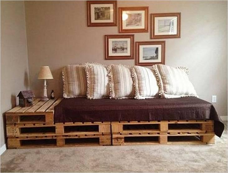 Διπλό κρεβάτι παλετών