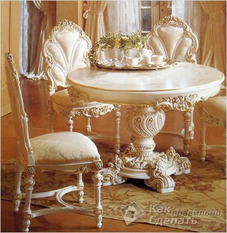Białe Meble Rokokowe Stwórz Luksusowe Wnętrze W Stylu Rokoko