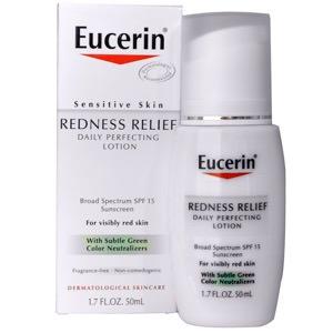 Eucerin, 皮膚の発赤を緩和、日々のパーフェクティングローション SPF 15