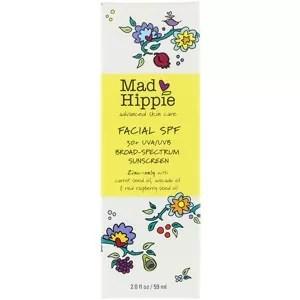 Mad Hippie Skin Care Products, 顔用SPF30+ UVA/UVBブロードスペクトラム日焼け止め
