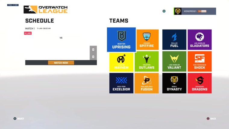 You Can Watch the Overwatch League from Your Game's Menu on PS4