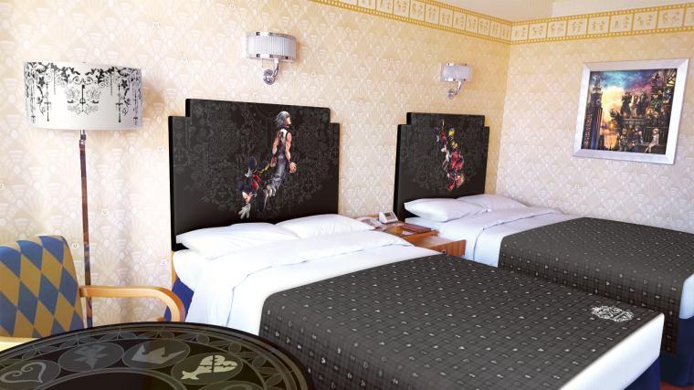 Kingdom Hearts Hotel Room Beds
