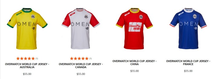 Overwatch World Cup Jerseys Are Back On Sale