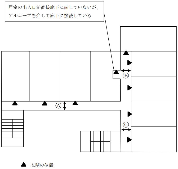 廊下幅_両側居室