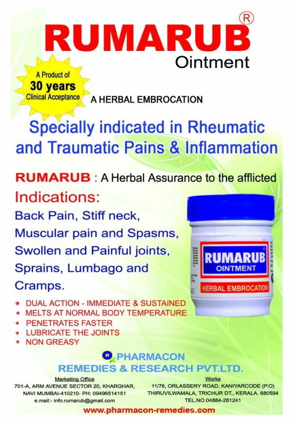 RUMARUB FOR ACHES N PAINS