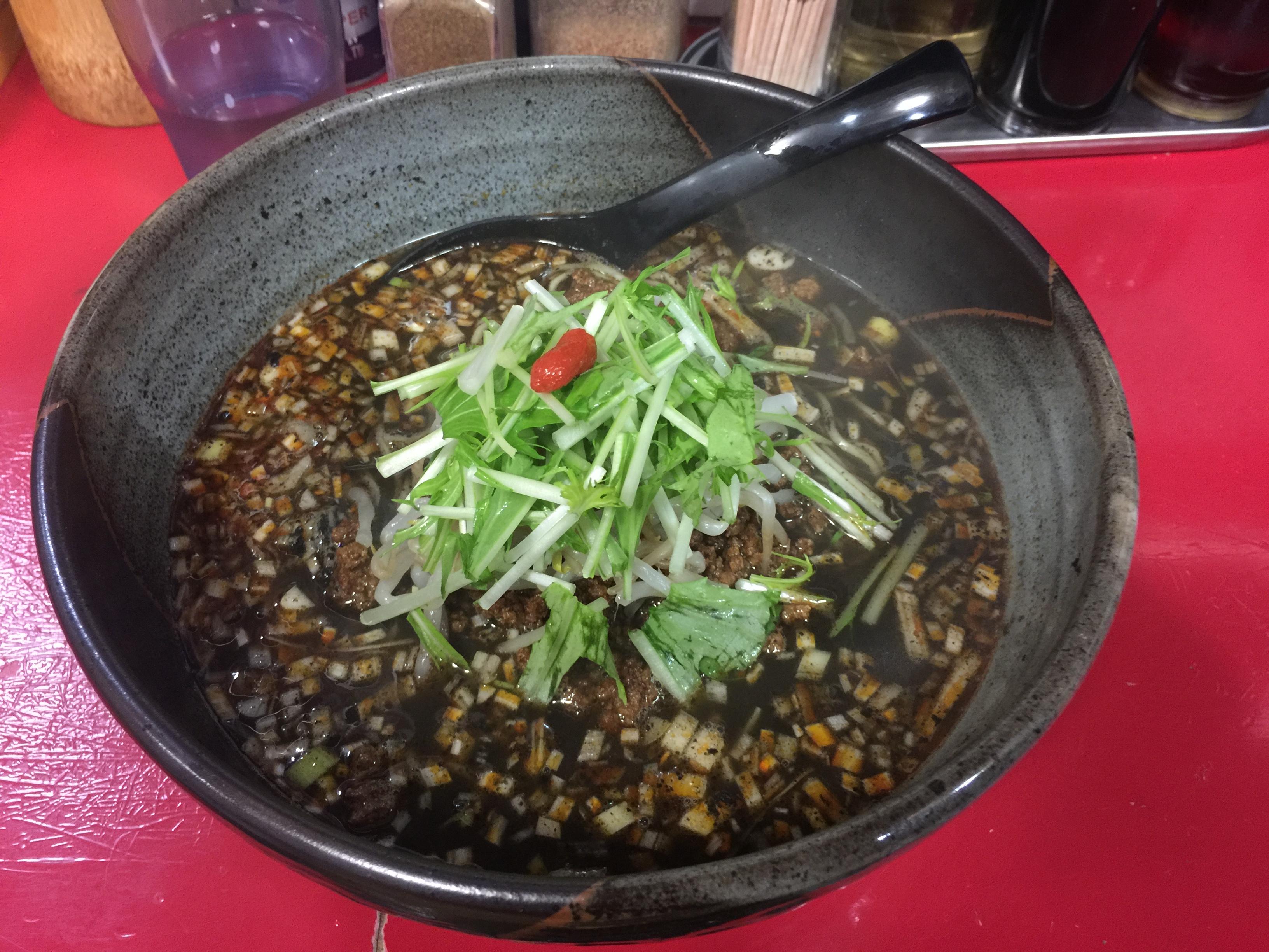 京橋ササラの黒胡麻担々麺