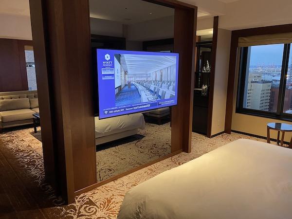 ベッドから見たテレビ