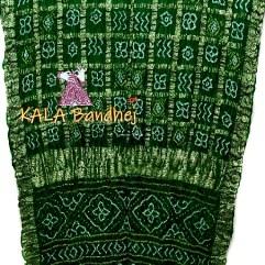 Bottle-Green Naksi Zari Gharchola Saree