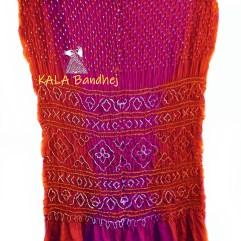 CrimsonOG-DPINK GajiSilk Shaded Bandhani Saree
