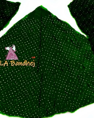 Dark Green GajiSilk Bandhani Chaniya Choli